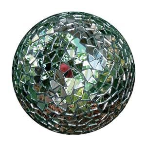 Rome 9236 Garden Party Mosaic Gazing Mirror Ball, 4-Inch Diameter