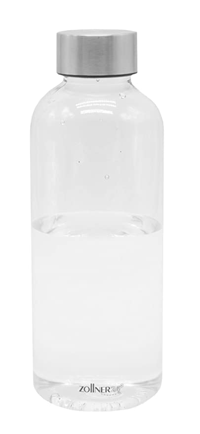 ZOLLNER24 Botella de Agua sin BPA de tritán, 600 ML, Disponible en 1 litro