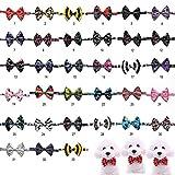 FidgetGear Factory Lot 100 pcs Dog Puppy CAT Pet Bowtie 33 Color Bow Tie Dog Collar Necktie