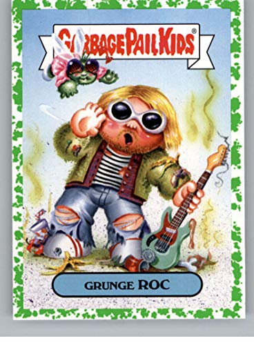 2019 Topps Garbage Pail Kids We Hate the '90s Music and Celebrities Sticker B-Names Puke Non-Sport #2 GRUNGE ROC Collectible Trading Card Sticker (Ni ()