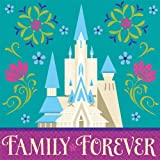 "Disney Frozen Beverage Napkins Birthday Party Tableware Supply (16 Pack), Teal/Violet, 5"" x 5""."