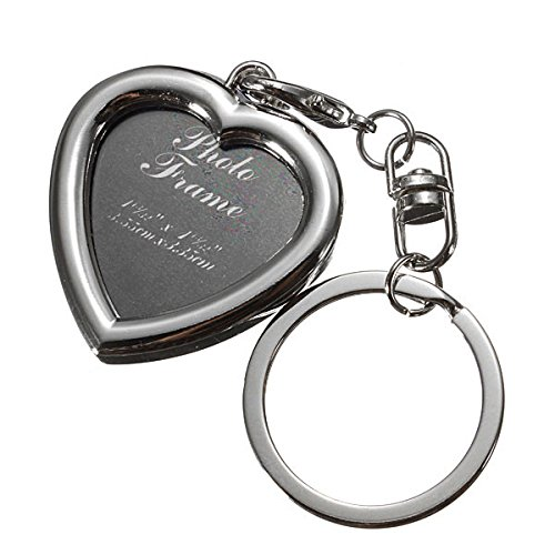 New Metal Photo Insert Frame Keyring DIY Keychain Keyfob Ornament Gifts. by PaoSky/gift