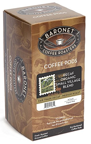 Baronet Coffee Fair Trade Ingrained Decaf Small Village Blend, 18-Count Coffee Pods (Pack of 3)