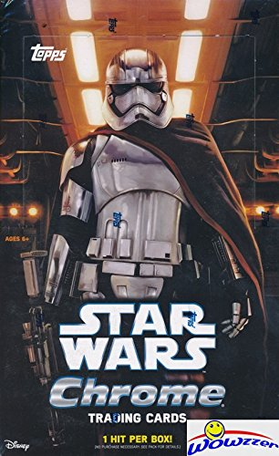2016 Topps Star Wars The Force Awakens CHROME Factory Sealed HOBBY Box with 24 Packs! Includes One HIT of Either Single, Dual or Triple Autograph, Patch Card, Sketch Card or Printing Plate! Loaded! (Topps Sketch Cards)