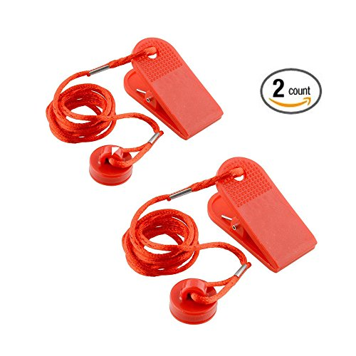 2 Pcs RichWealth Sports Running Machine Safety Safe Key Treadmill Magnetic Security Round Switch Red