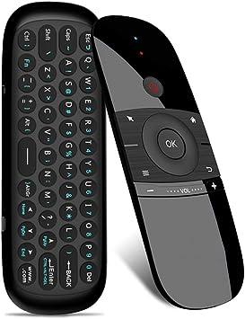 Air Mouse Remote, Control Remoto Universal inalámbrico 2.4 G con función de Teclado y Mouse para Android TV Box, Windows TV Box, PC, Mac, Xiaomi ...