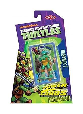 Turtles - Juego de Cartas Leonardo Tortugas Ninja, para 1 o ...