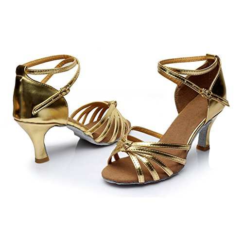 Shoes Knot Women's 7cm Ballroom Latin Sandals Standard VASHCAME Gold Dance Heel FX8PxqFw