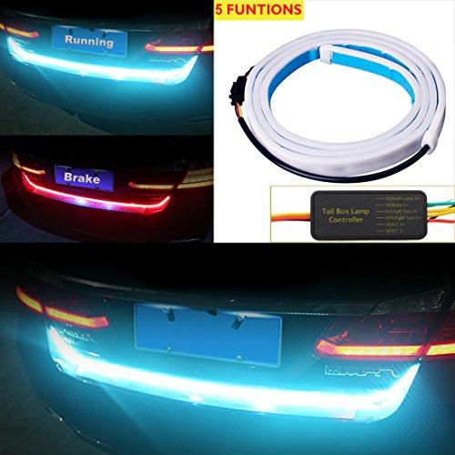 "For 2009-2012 Ford F150 Smoke LED Brake Tail Lights w// 60/"" Tailgate LED Strip"