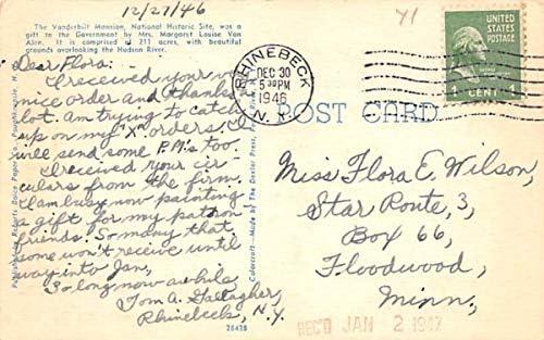 Vanderbilt Mansion National Historic Site Hyde Park, New York Postcard: Amazon.es: Juguetes y juegos
