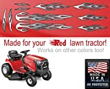 East Coast Vinyl Werkz Lawn Mower Decals Stickers - Layered Flames - 10pc. Set - Choose Color - for Murray Craftsman, Snapper, Toro, Wheel Horse (Gray)