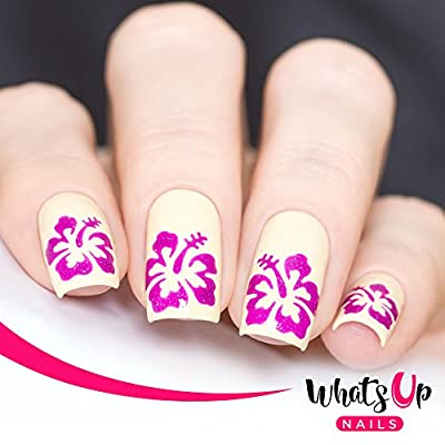 Amazon Whats Up Nails Hibiscus Nail Stencils Stickers Vinyls