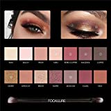 Eyeshadow Palette Matte Glitter Shimmer Vacation Eye Shadows Palette With Brush
