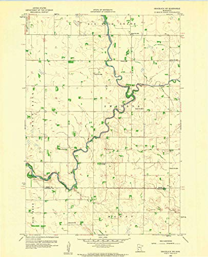 YellowMaps Gracelock NW MN topo map, 1:24000 Scale, 7.5 X 7.5 Minute, Historical, 1958, Updated 1960, 27.23 x 21.53 in - Paper -