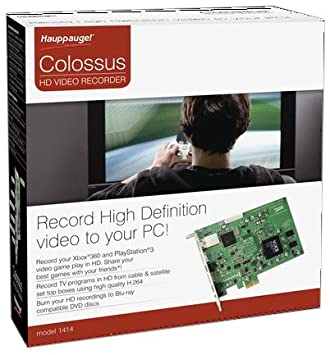 Hauppauge Colossus: Internal PCIe HD PVR  Hi-Def Video Capture Device with  Hardware H 264 Video Encoders & HDMI in