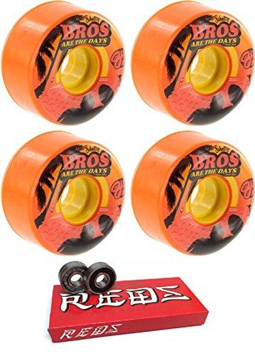 56 mm OJ Wheels schmittys BrosキーフレームスケートボードWheels with Bones Bearings – 8 mmスケートボードベアリングBones Super Redsスケート定格 – 2アイテムのバンドル   B07547Q9H5