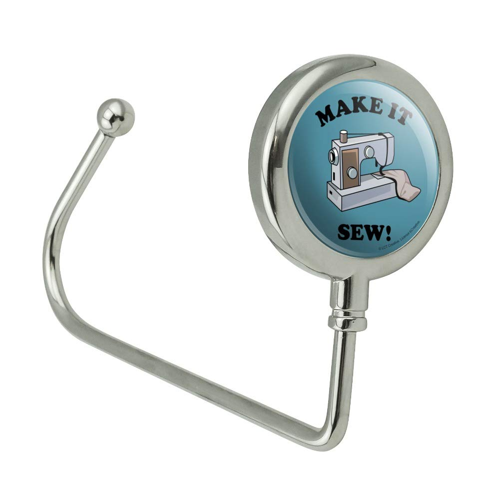 Make It Sew So Sewing Funny Humor Purse Bag Hanger Holder Hook