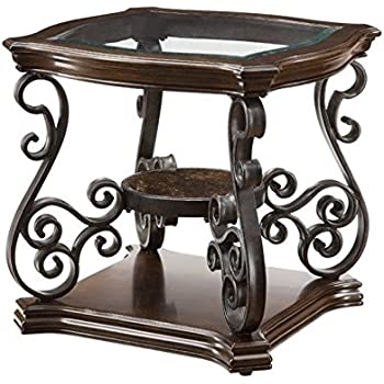 Coaster Home Furnishings Traditional End Table, Dark Brown