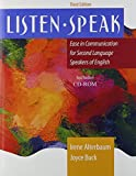img - for Listen Speak: Ease in Communication for Second Language Speakers of English w/CD book / textbook / text book
