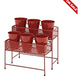 Tiered Plant Stand Planter Corner Rack Rustic Patio Unique Multiple Plants Pot Rack Outdoor Furniture & E book By Easy2Find