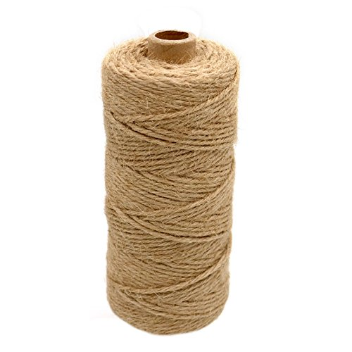 Ply Hemp 3 (3mm Natural Jute Twine,328 Feet 4 Ply Jute Rope Jute Cord Best Arts Crafts Gift Twine Durable String)
