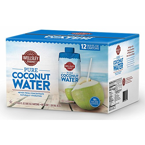 Wellsley Farms Coconut Water, 12 pk./550mL (pack of 6) by Wellsley Farms