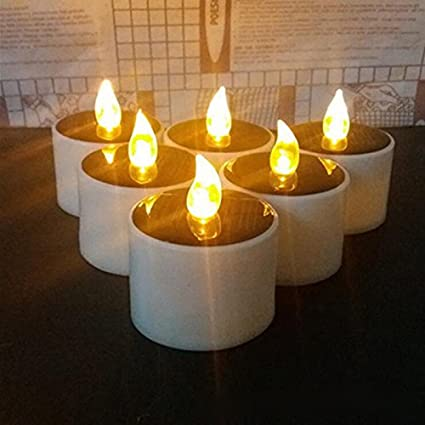 Outdoor Candle Lights Amazon solar candles lights lemon hour outdoor led solar tea solar candles lights lemon hour outdoor led solar tea lights with romantic atmosphere solar workwithnaturefo