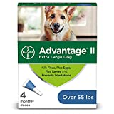Bayer Advantage II Flea and Lice Treatment for X-Large Dogs, Over 55 lb