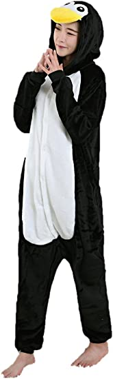 TALLA S(145-155cm). Mujer Pijama Animal Traje de Disfraz Cosplay para Carnaval Halloween Navidad Ropa de Noche Unisex para Ni?os Ni?as Adultos
