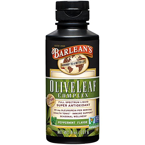(Barlean's Organic Olive Leaf Complex, Peppermint Flavor, 8 Ounce)