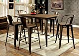 Furniture of America Cadiz 7-Piece Industrial Pub Dining Set