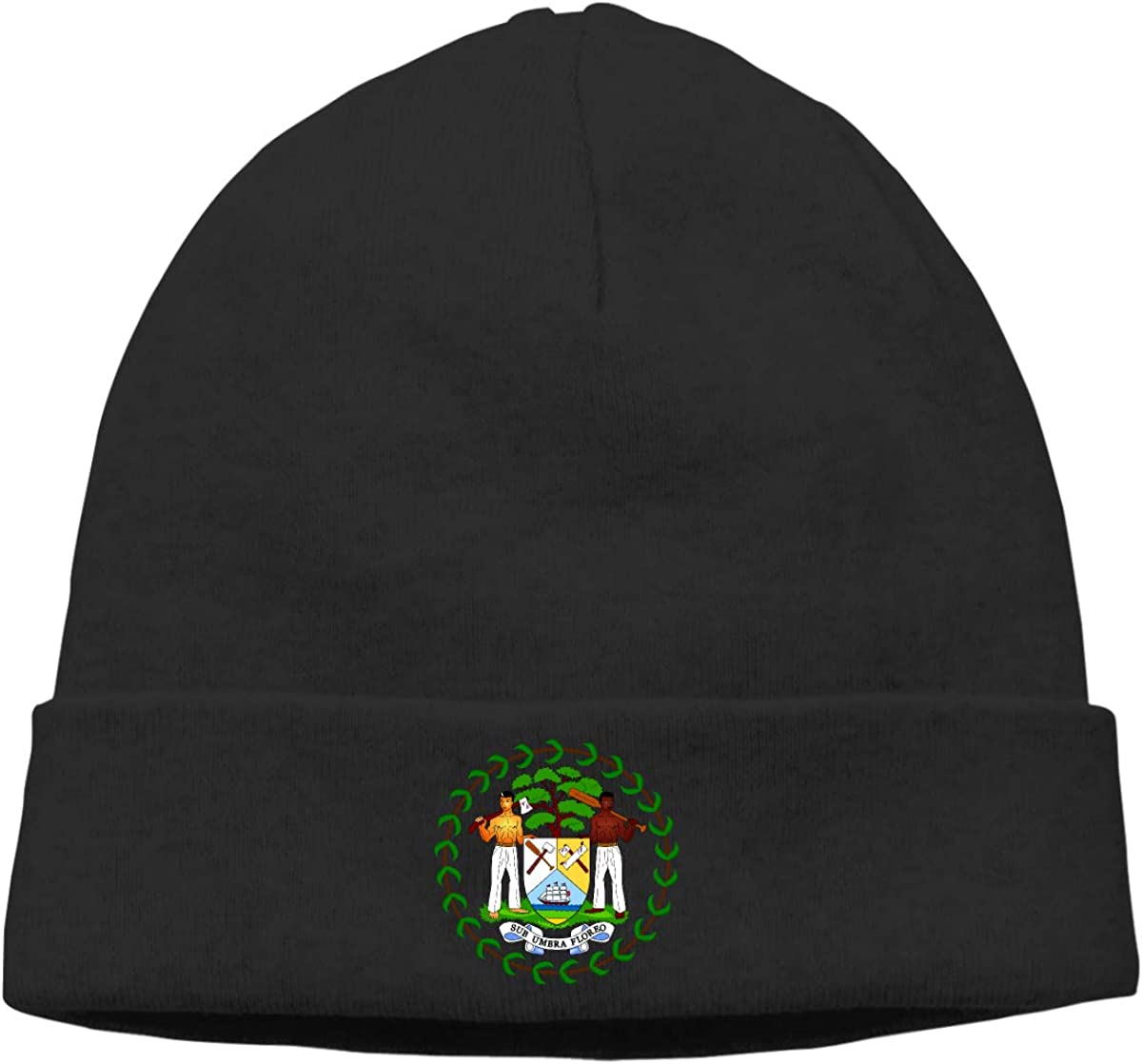 Nskngr Coat of Arms of Belize Cap Men /& Women Chunky Serious Beanies Winter Hats