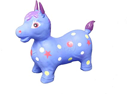 Kids Toddlers Jumping Horse Inflatable Bouncing Animal Pony Ride On Toy Hopper