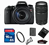 Canon T6S DSLR Camera + 18-55 IS STM Lens + 75-300 Zoom Lens + 16GB Memory + UV Filter + Deluxe Value - International Version