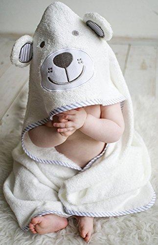 Babys Bliss Organic Bamboo Hooded Baby Towel and Washcloth Set