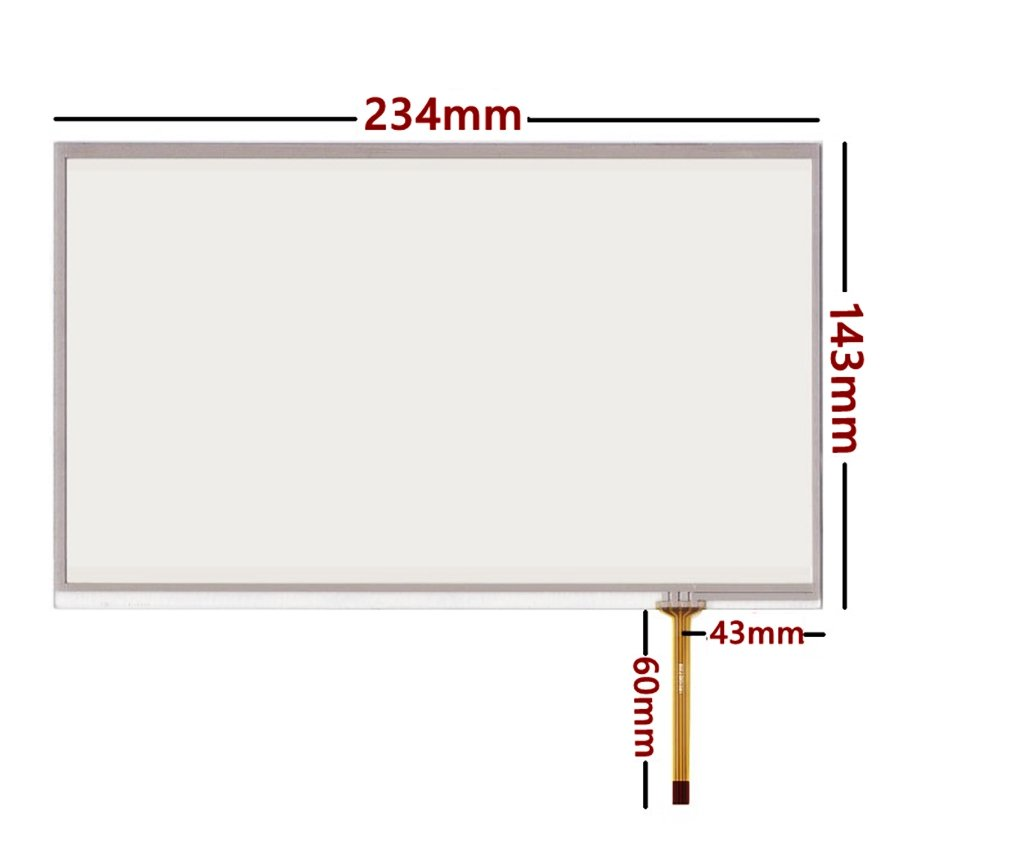 10.1inch 4 wire Resistive Touch screen Panel Digitizer for Handwriting screen, industrial equipment 234mm x143mm