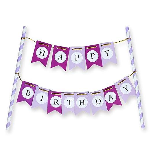 Feliz cumpleaños de la torta-Banner de fiesta decoración de ...