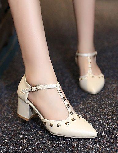 ShangYi Women's Shoes Heel Heels / Pointed Toe Sandals / Heels Office & Career / Dress / Casual Blue / Pink / Purple / Beige Pink ZgZ9Z7S