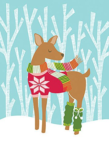 Design Design Deer In Sweater & Leg Warmers Boxed Christmas Cards ()