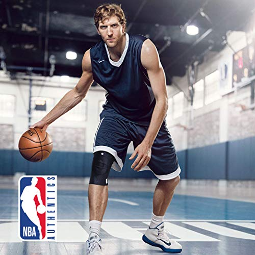 Bauerfeind GenuTrain NBA Knee Brace - Basketball Support with Medical Compression - Sleeve Design with Patella Pad Gel Ring for Pain Relief & Stabilization (Black, S) by Bauerfeind (Image #5)