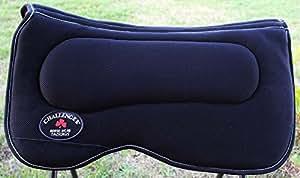 Western Horse SADDLE PAD Western Saddle Pad with Antislip Memory Foam Black 3964