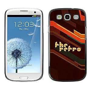 Stuss Case / Funda Carcasa protectora - Retro Style Artwork Poster Brown Quote Slogan - Samsung Galaxy S3 I9300