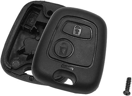 Sourcing Map Schlüssel Gehäuse 2 Tasten Fob Deckel Schal Ersatz Für 206 Auto