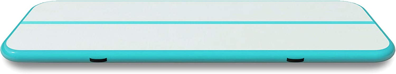 Ukiki Tapis Gonflable de Gymnase Tapis Gonflable de Culbutage Gonflable Tapis Gonflables pour Maison Gymnase Parc sans Pompe 400 X 100 X 10CM