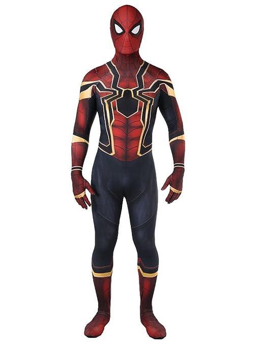 Sitila Adulto Iron Spider Spandex Cosaply Halloween traje ...