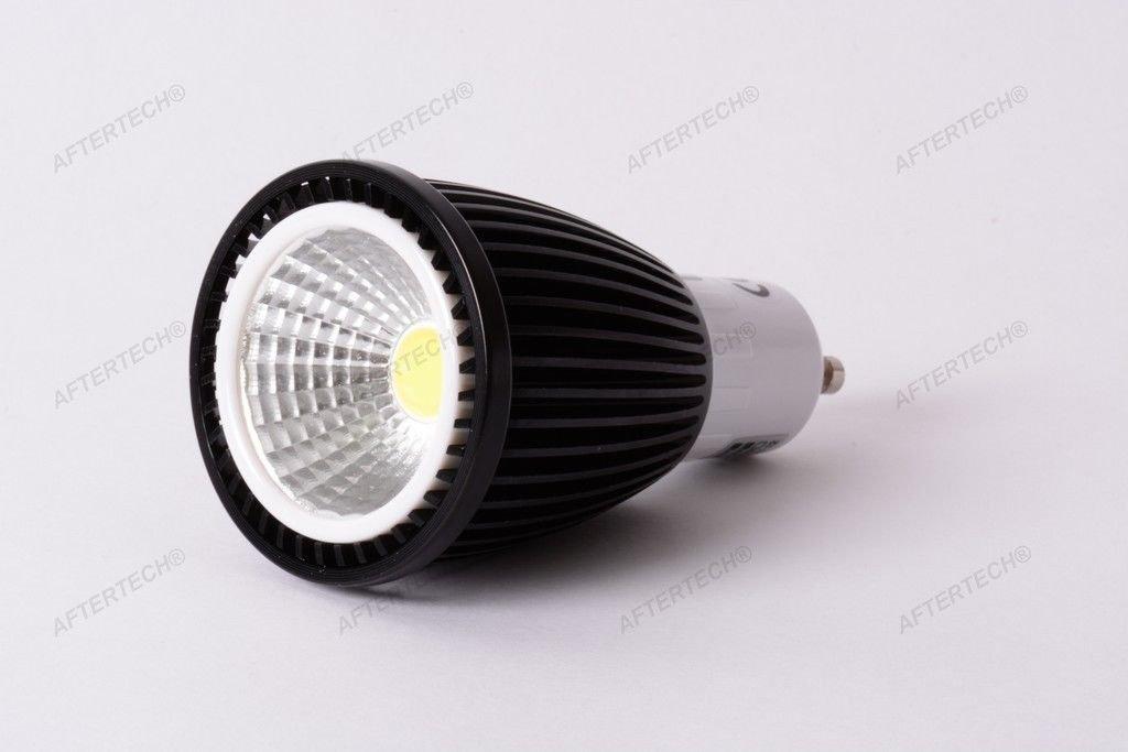 Aftertech® aftertech aftertech 10 x COB GU10 7 W Leuchtmittel LED 120 ° neutralweiß 4500 K 220 V Strahler Dichroitische