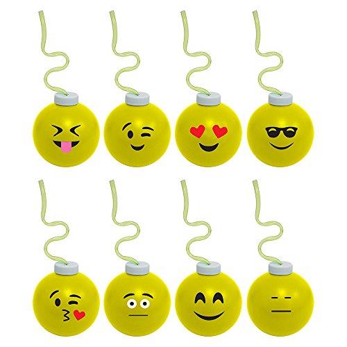 (Fun Time International Emoji 16oz Krazy Koolers with Krazy Straw (Each -)
