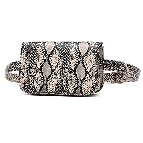 Badiya Women's Mini Waist Bag Fanny Packs Crocodile Leather Cell Phone Pocket ()