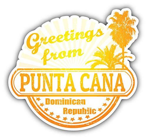 JJH Inc Punta Cana Dominican Republic Greetings Label Vinyl Decal Sticker Waterproof Car Decal Bumper Sticker 5