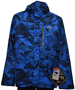 Men's The North Face NFZ Insulated Jacket Medium Cosmic Blue Mountain Camo